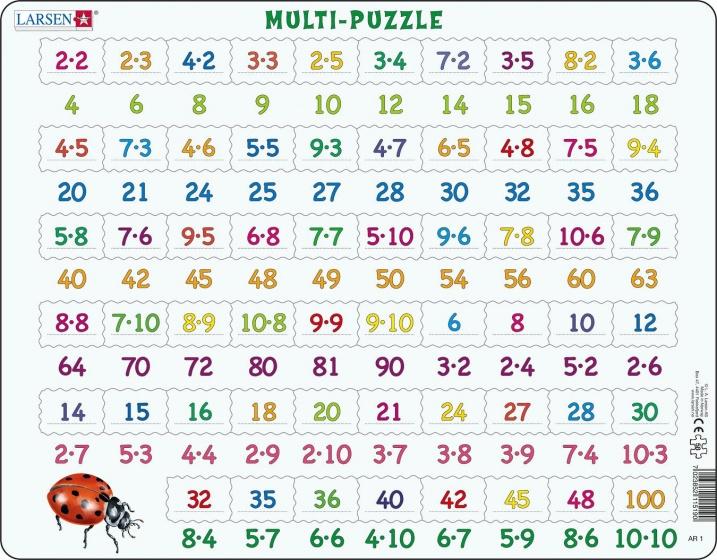 legpuzzel Maxi Leren vermenigvuldigen 58 stukjes