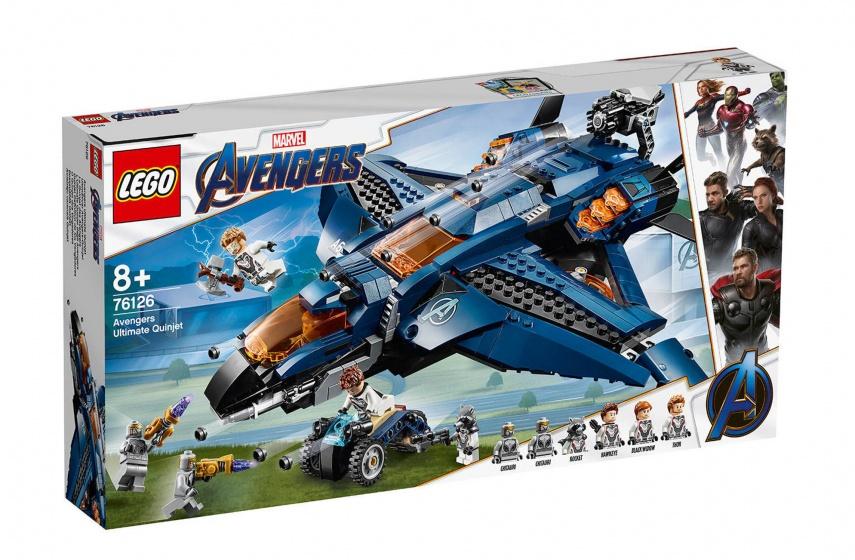 SUPER EROI   vendicatore massima Quinjet (76126) LEGO  100% di contro garanzia genuina