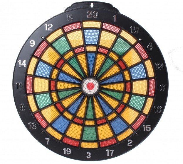 dartbord Safety met 6 plastic pijlen 35 cm