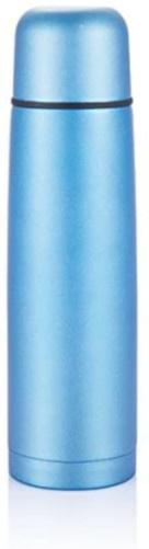 thermoskan 0,5 liter 24,5 x 6,5 cm RVS/polyetheen blauw