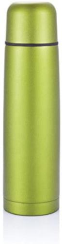 thermoskan 0,5 liter 24,5 x 6,5 cm RVS/polyetheen groen