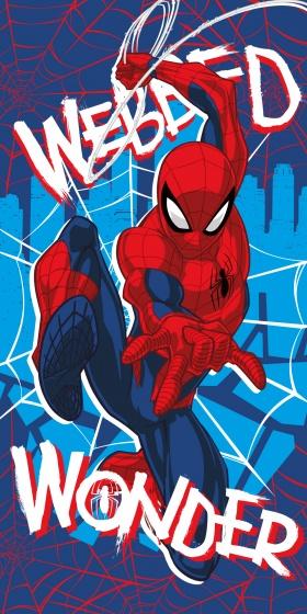 badhanddoek Spider-Man blauw 70 x 140 cm
