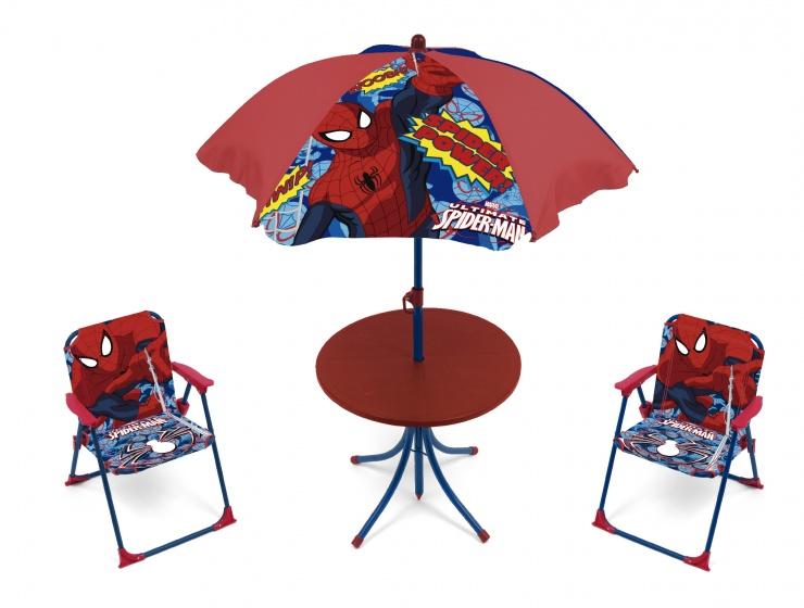 campingset Spider-Man jongens rood 4-delig