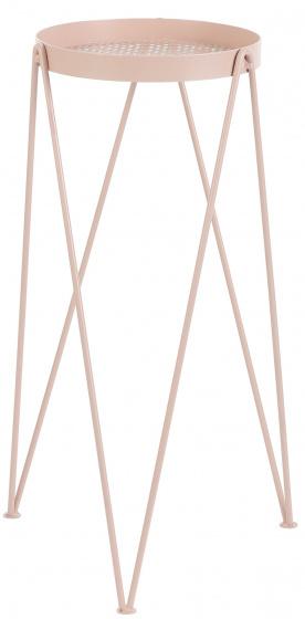 bijzettafel Tobi 30 x 26 x 52 cm RVS roze