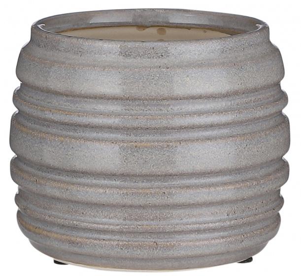 bloempot Mae 11,5 x 14 cm steen grijs