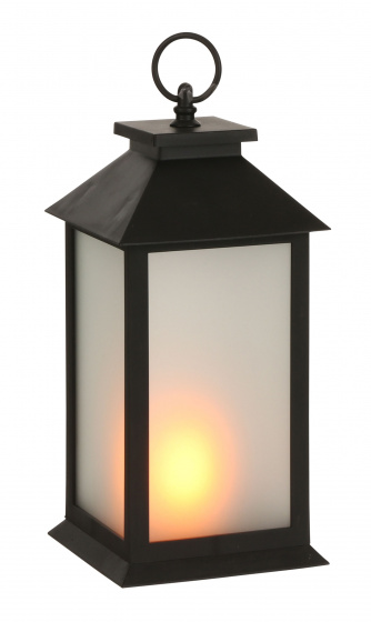 lantaarn led geel 14 x 33,5 cm zwart