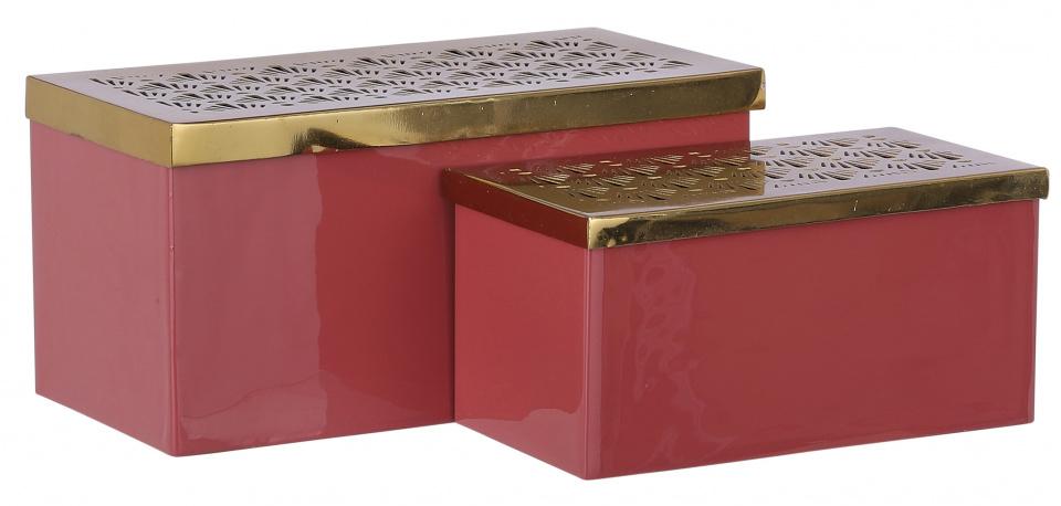 opbergdozen Lua 2,3/1,4 liter staal roze