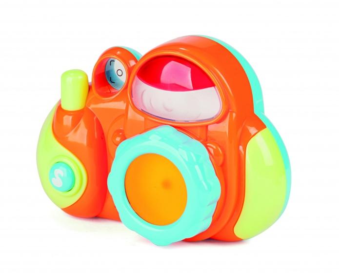 speelgoedcamera Minicam junior 14 cm oranje/groen
