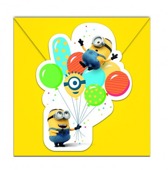 Minions Einladungskarten mit Umschlag  6 Stück