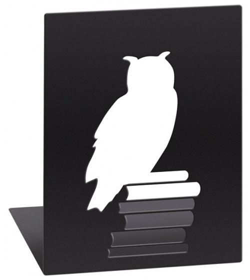 Libri_x boekensteunen uil staal zwart