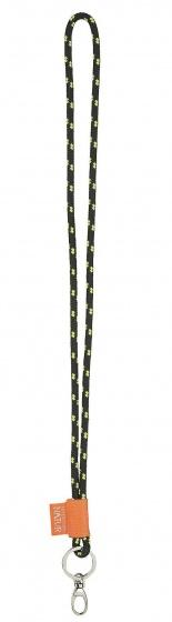 sleutelhanger nekkoord 46 cm zwart