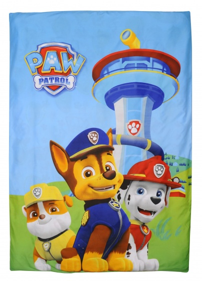dekbedovertrek Paw Patrol 140 x 200 cm blauw