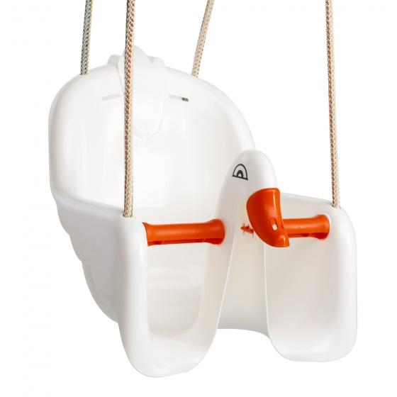 babyschommelzitje zwaan wit/oranje