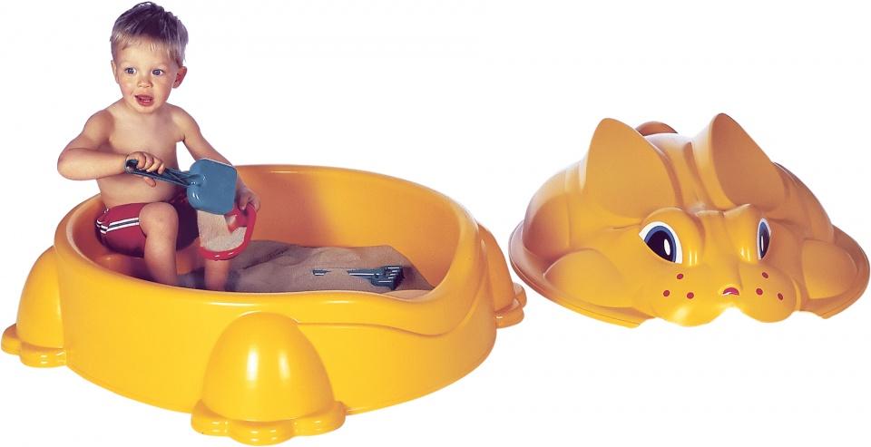 zandbak konijn 84 x 92 cm geel