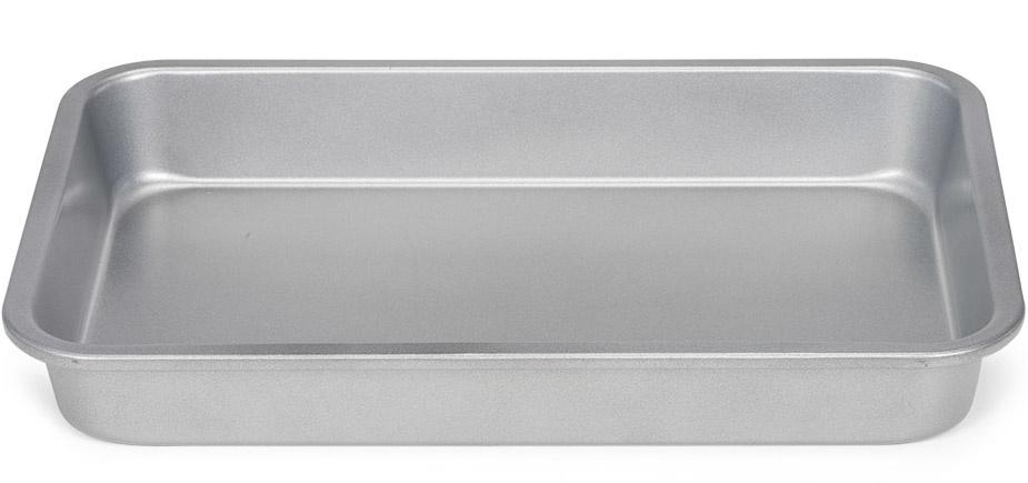brownievorm 28 x 18 cm staal zilver