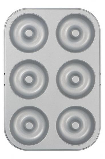 donutvorm 18 x 27 cm staal zilver