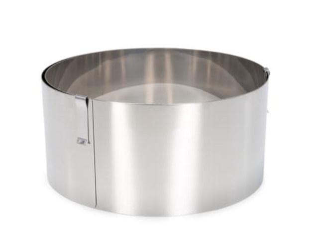 taartring verstelbaar 18-30 cm rvs zilver