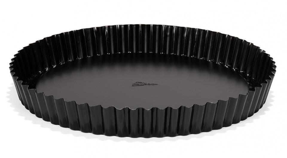 vlaaibodem 28 cm staal zwart