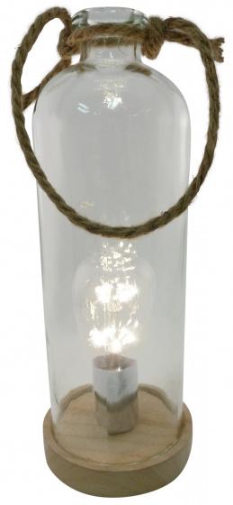 decoratiefles led 12 x 33 cm glas transparant