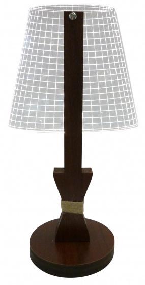 tafellamp led USB 18 x 35 cm hout bruin