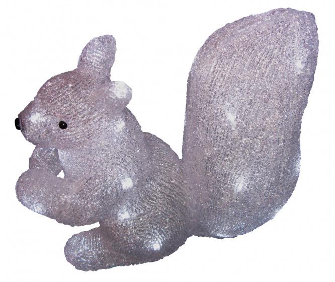 decoratieverlichting eekhoorn 32 leds 38 cm koud wit