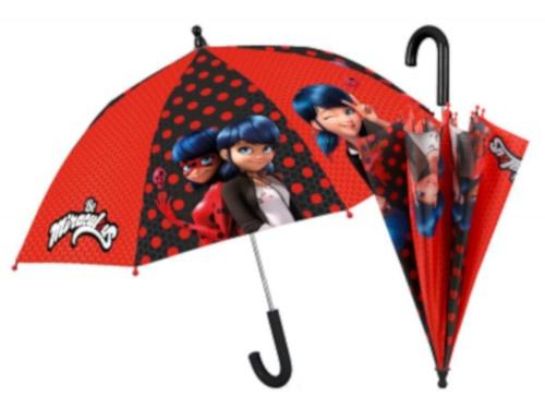 paraplu Be Miraculous Ladybug 76/67 cm meisjes rood/zwart