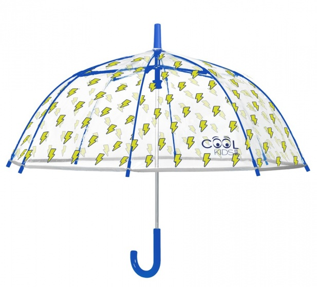 paraplu Cool Kids bliksem 74/67 cm junior transparant