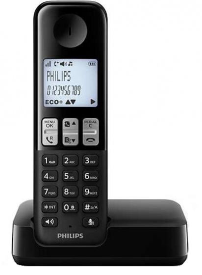 telefoon D2501B/01 polypropyleen zwart 2-delig