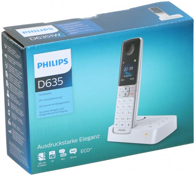 telefoon D635 polypropyleen wit 2-delig