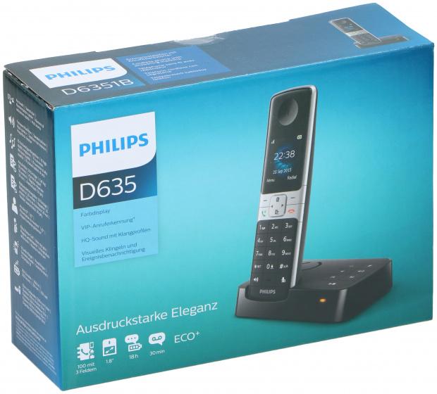 telefoon D635 polypropyleen zwart 2-delig