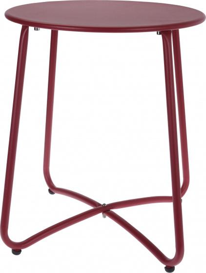 bijzettafel 40 x 45 cm staal rood