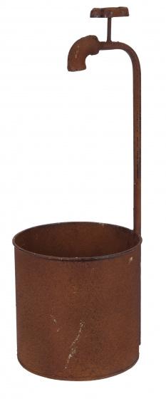 bloempotten met kraan staal bruin 3 stuks