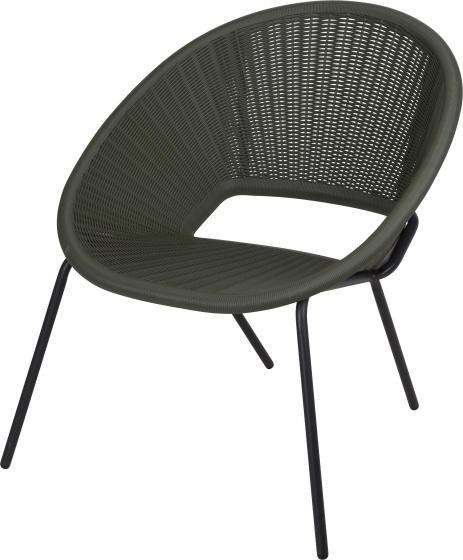 stapelstoel 70 x 71 x 80 cm staal zwart/groen