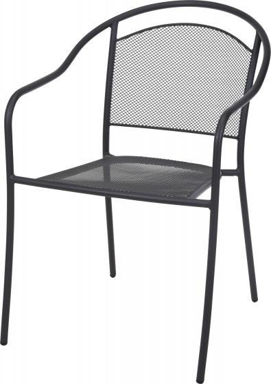 stapelstoel 55 x 81 cm staal grijs