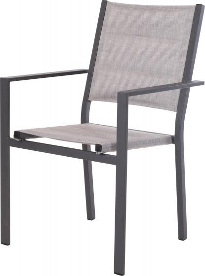 stapelstoel Tuin 56 x 58 x 87 cm aluminium grijs