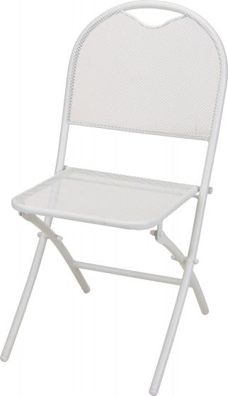 klapstoel 87 x 40 cm aluminium wit
