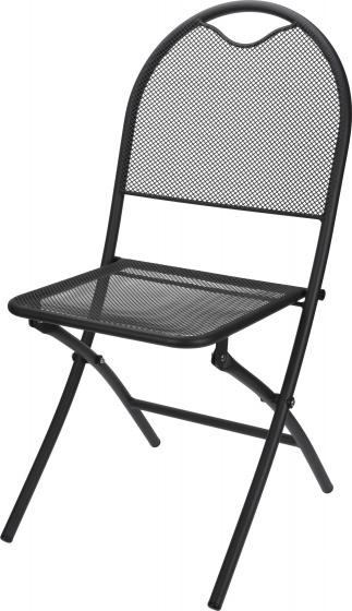 klapstoel 87 x 40 cm aluminium donkergrijs