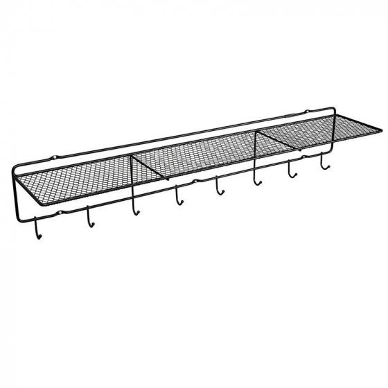 kapstok Frame 100 x 20 x 15 cm staal zwart