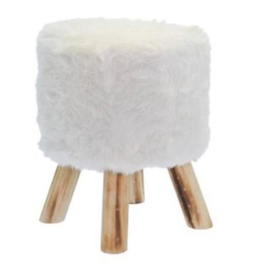kruk 28 x 40 cm hout/polyester blank/wit