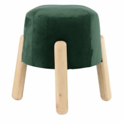 kruk 29 x 35 cm hout/fluweel blank/groen