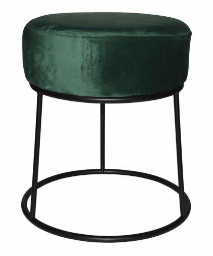 kruk 32 x 38 cm fluweel/staal zwart/groen