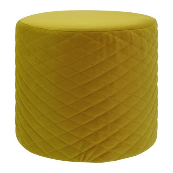 kruk 34 x 31 cm fluweel geel