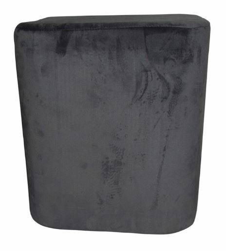 kruk 35 x 38 cm fluweel antraciet