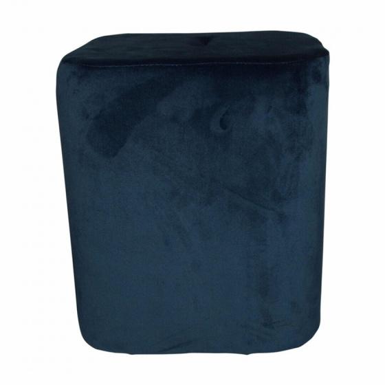 kruk 35 x 38 cm fluweel blauw