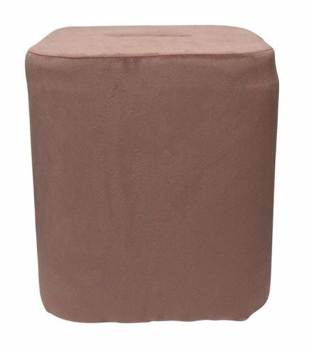 kruk 35 x 38 cm fluweel roze