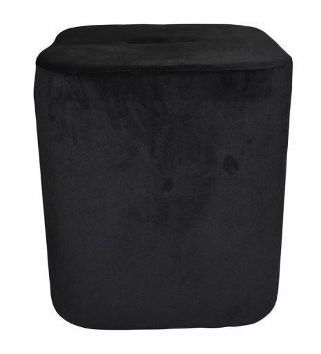 kruk 35 x 38 cm fluweel zwart