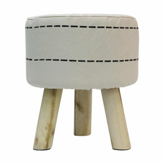 kruk 38 cm hout/polyester blank/wit