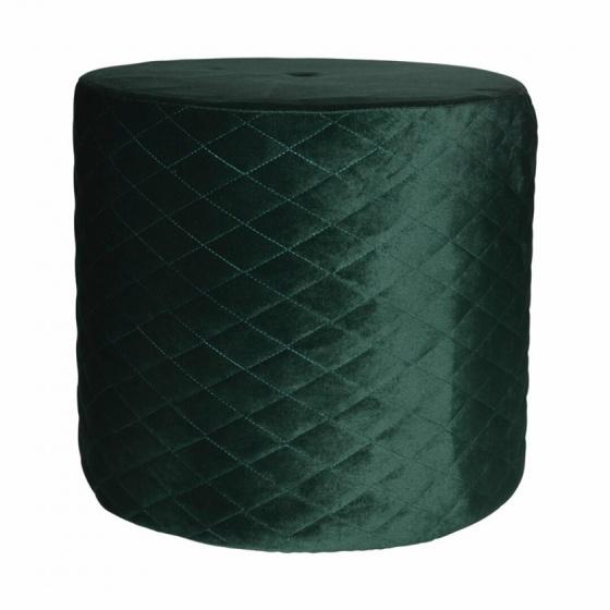 poef 34 x 31 cm fluweel groen