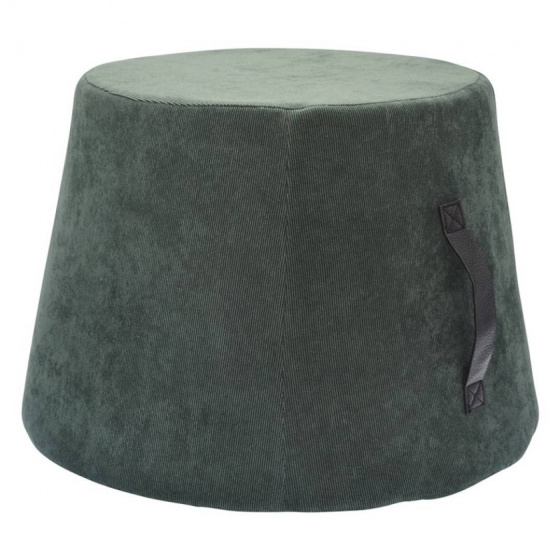 poef 45 x 35 cm fluweel/polyurethaan groen