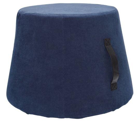 poef 45 x 37 cm fluweel/polyurethaan blauw
